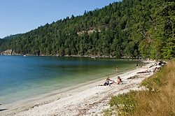 Beach at Montague Harbour, Galiano Island, British Columbia