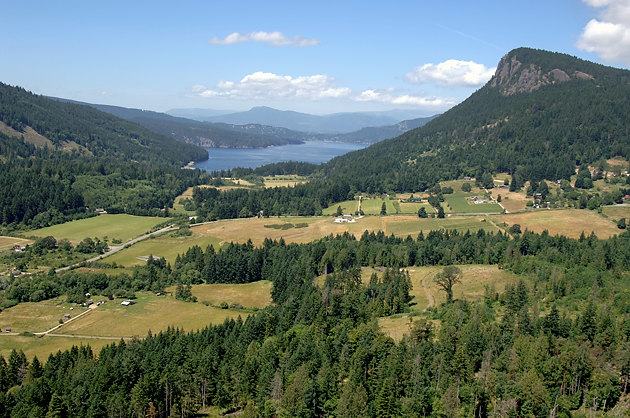 Fulford Valley and Mt. Maxwell, Salt Spring Island Aerial Photogaph