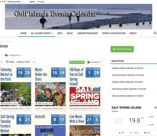 Gulf Islands Events Calendar