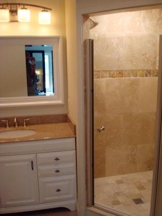 Big closet made into bathroom  Gulf Construction