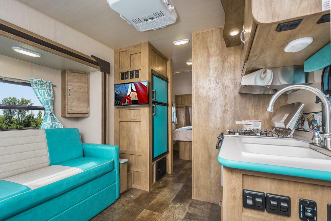 rv sofa bed baroque styles vintage cruiser   light weight trailers gulf stream ...