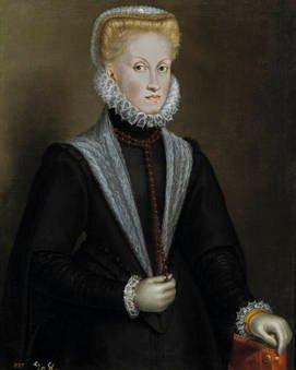 Sofonisba Anguissola. Retrato de la reina Ana de Austria. Sala 56 del Museo del Prado