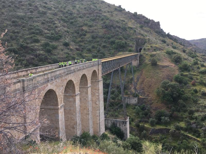 Salamanca recupera la vía férrea de la Fregeneda