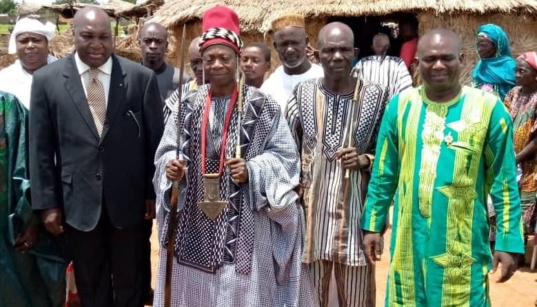 Visite de Zephirin DIABRE chez le roi Untamba