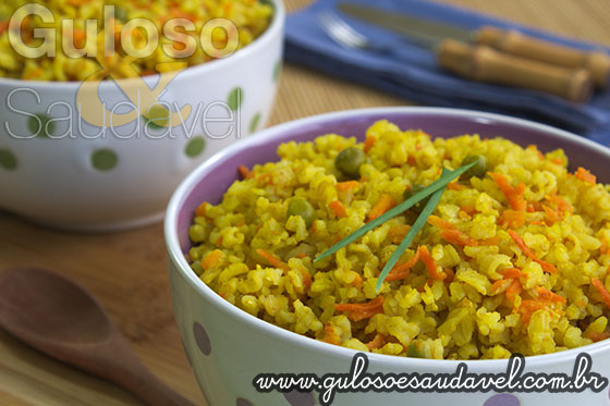 Receita de Arroz Integral ao Curry