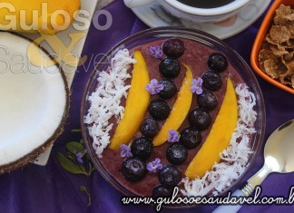 Receita de Smoothie de Mirtilo no Bowl