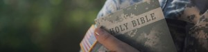 Gum Branch Baptist Church - Soldier Holding Bible
