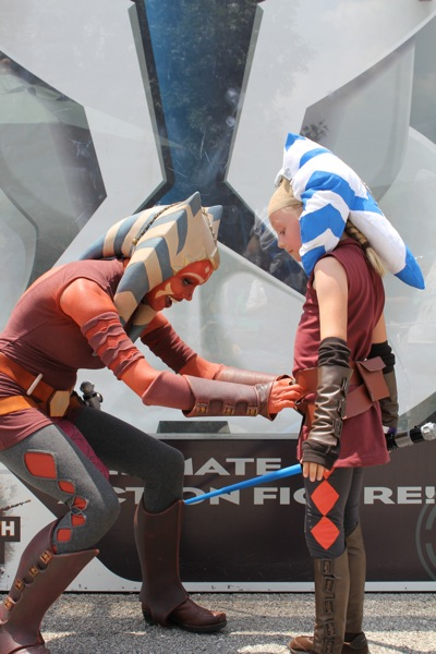 Ahsoka Inspects the Costume