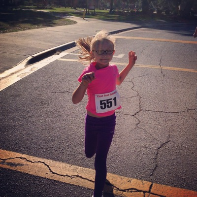 Her first 5K!