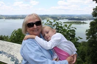 At the Lake with Nana