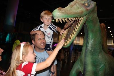 At the Dinosaur Show