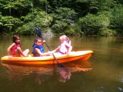 Kayak Full of Girls