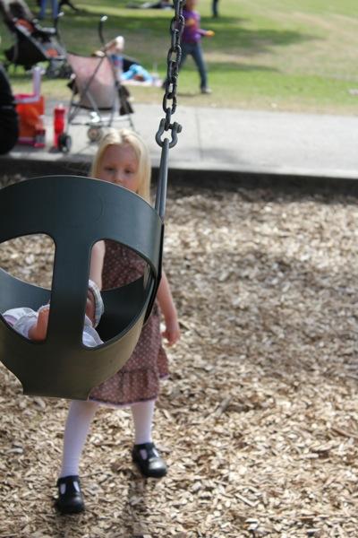 Babydoll Swinging High!