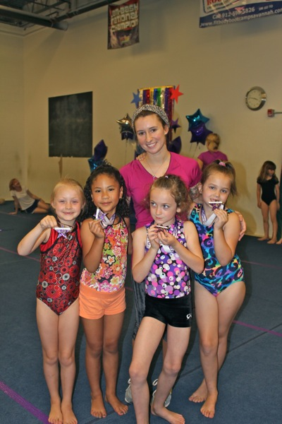 With Teacher Alix at All American Gymnastics