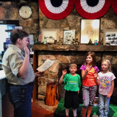Junior Ranger Swearing In