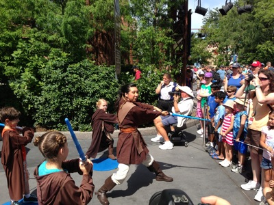 Training at the Jedi Academy