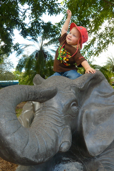 Look, I'm an elephant!