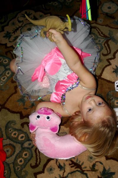 A Ballerina and her Dinosaur