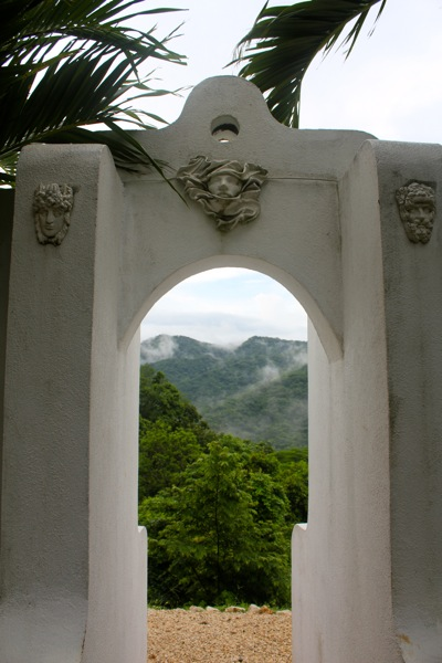Arch Leading From Garden