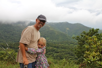 Camille and Granddaddy Enjoy the View