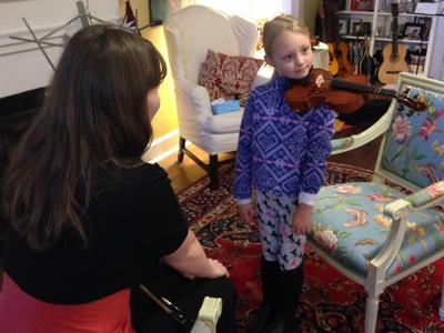 First Viola Lesson