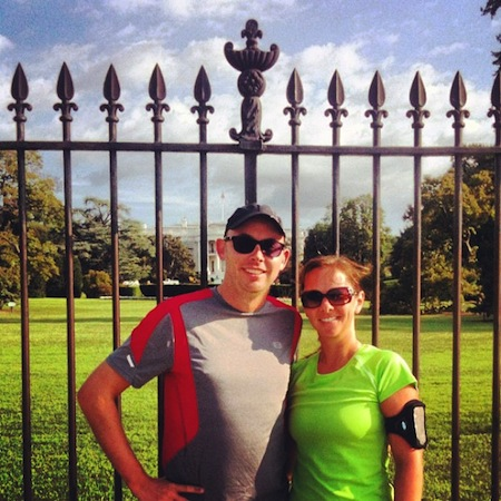 DC Run - With my running buddy in front of the White House