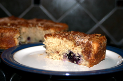 Pear and Blueberry Cake