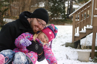 Snowgirl and her Daddy