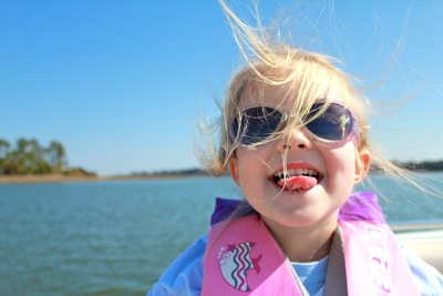 Happy Girl on the Water