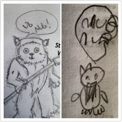 Daddy/Daughter Drawings of Wicket