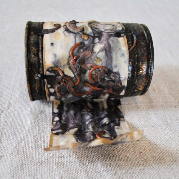 Rusty tin flower eco-printing by Gumnut Magic