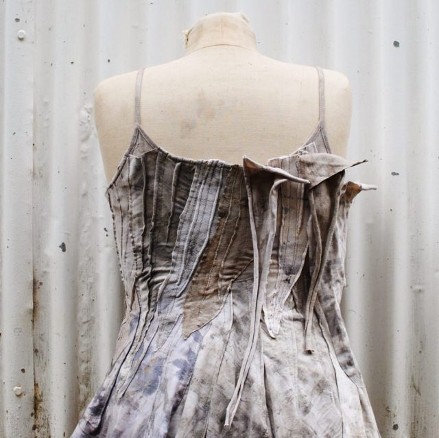 Piecing together a tattered wasteland dress- Gumnut Magic