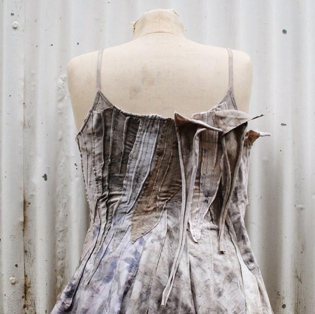 Piecing together a tattered wasteland dress- Gumnut Magic