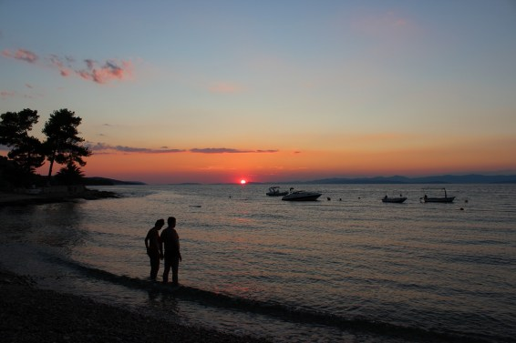 Sunset on Mirca beach