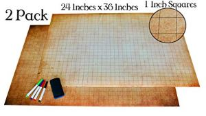 Dungeons and Dragons (DND) Erasable Battle Gaming Mat | Tabletop