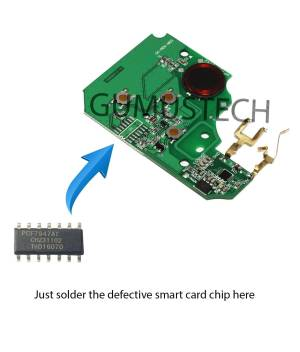Renault Megane2 Smartcard RepairBoard-renault-megane-2-scenic2-model-2002-2009-smart-card-remote-control-repair-board-pcb-circuit-433mhz-pcf7947at-id46-oem-original-after-market-7701209132-7701209135