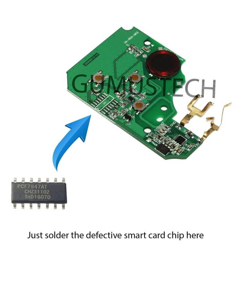 Renault Megane2 Smartcard RepairBoard-renault-megane-2-scenic2-model-2002-2009-smart-card-remote-control-repair-board-pcb-circuit-433mhz-pcf7947at-id46-oem-original-after-market-7701209132-7701209135