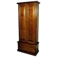 #1109 Solid Pine 12-Gun Cabinet