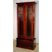 #1119 Solid Pine 12-Gun Cabinet