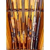#408 Oak 8-Gun Cabinet