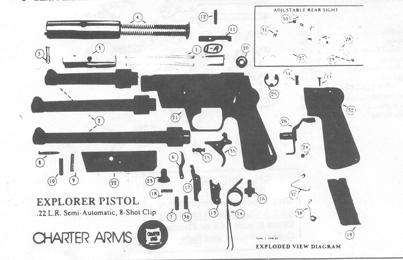 CHARTER ARMS GUN REPAIR PARTS; Bob's Gun Shop.Po Box 200