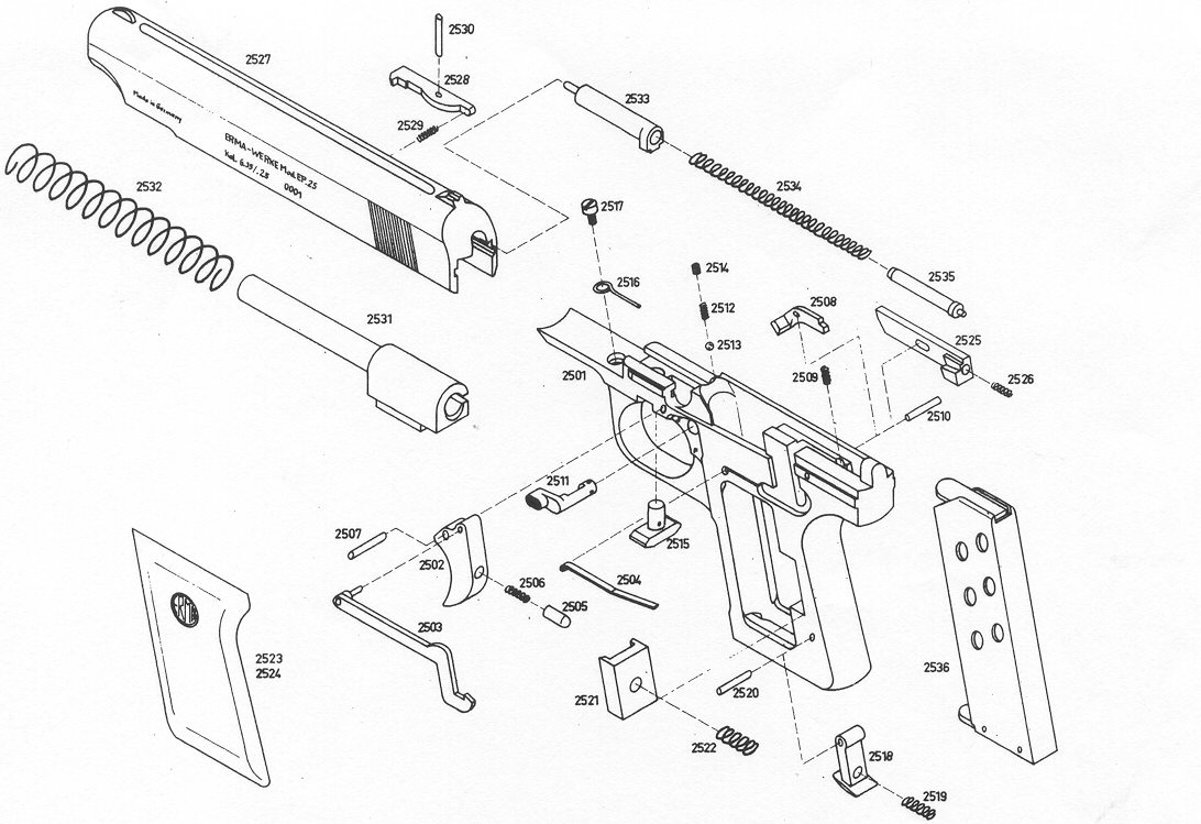 daisy air rifle parts diagram brake controller wiring spring schematic library erma german factory gun repair