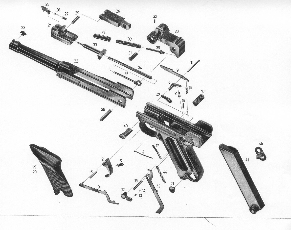 Erma German Factory Gun Parts, Erma Factory Repair Parts