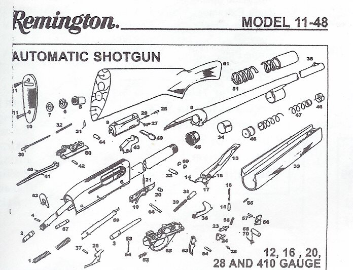 All Available REMINGTON ARMS COMPANY SHOTGUN REPAIR PARTS