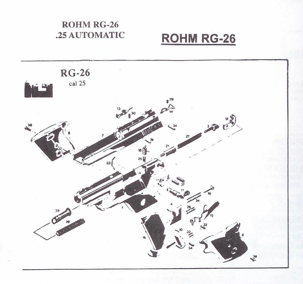 medium resolution of rohm rg revolver and automatic pistol parts german pistol parts revolver diagram related keywords suggestions revolver diagram