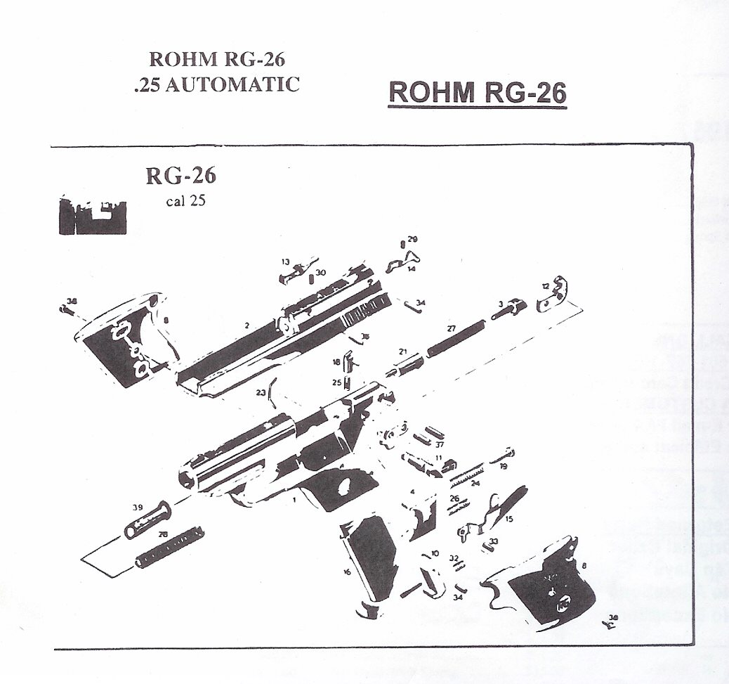 hight resolution of rohm rg revolver and automatic pistol parts german pistol parts revolver diagram related keywords suggestions revolver diagram