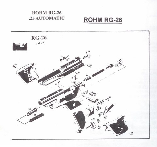 small resolution of rohm rg revolver and automatic pistol parts german pistol parts revolver diagram related keywords suggestions revolver diagram