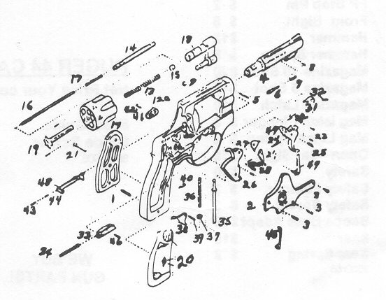 Taurus Revolver Exploded Diagram, Taurus, Free Engine
