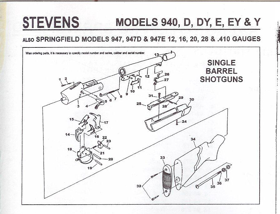 savage model 110 parts diagram kidde smoke alarm wiring shotgun parts, stevens parts,springfield original obsolete ...