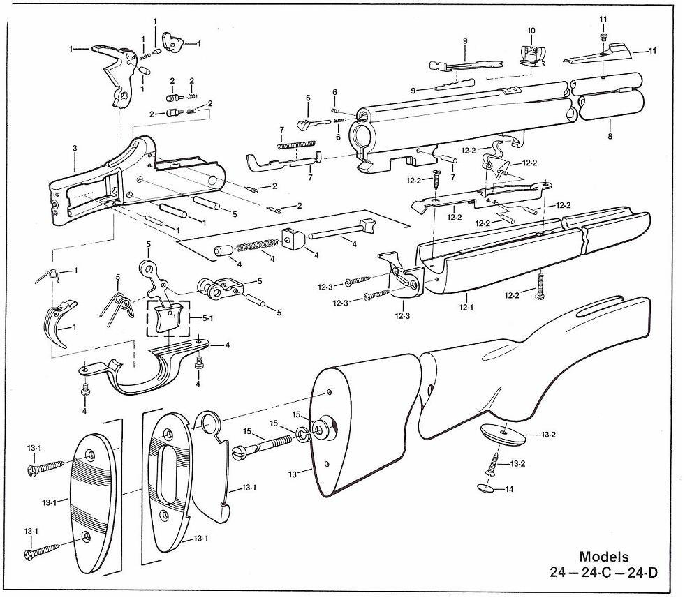 savage model 110 parts diagram ezgo key switch wiring shotgun stevens springfield original obsolete autsomatic